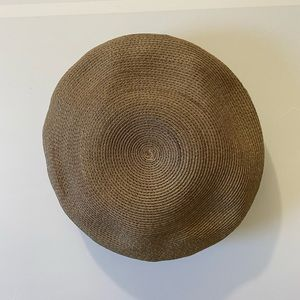 (3/$25) Vintage Woven Pillbox Beret Hat